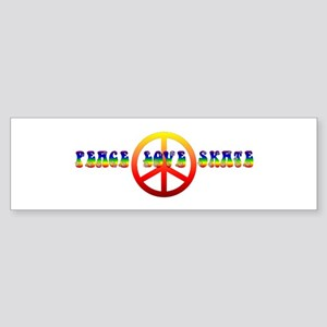 Peace Love Skate Sticker (Bumper)