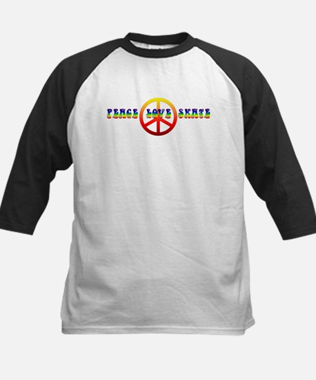 Peace Love Skate Kids Baseball Jersey