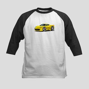 458 Italia Yellow Car Kids Baseball Jersey