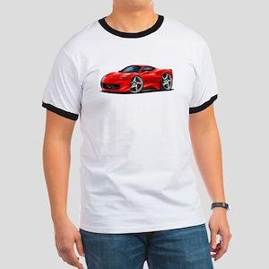 458 Italia Red Car Ringer T