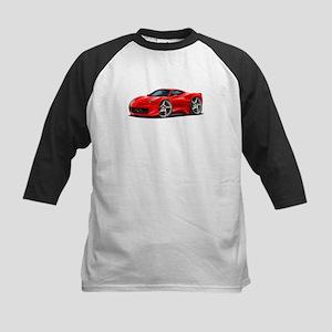 458 Italia Red Car Kids Baseball Jersey
