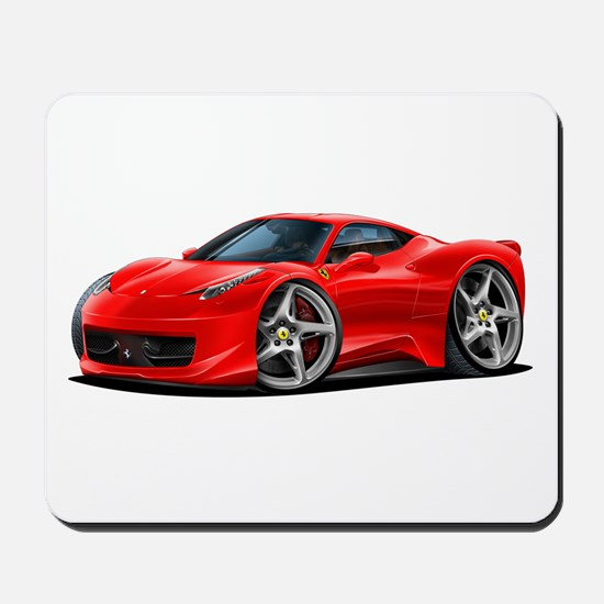 458 Italia Red Car Mousepad