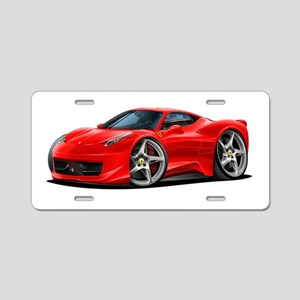 458 Italia Red Car Aluminum License Plate