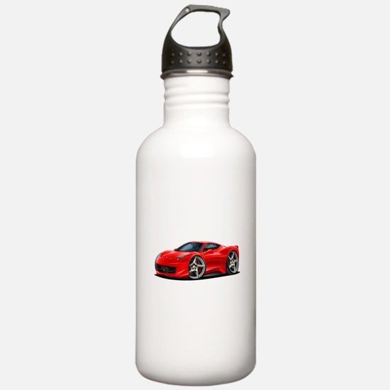 458 Italia Red Car Water Bottle