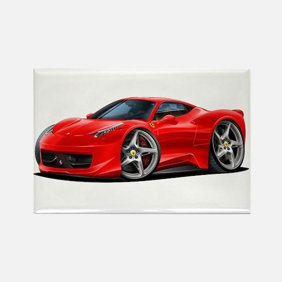 458 Italia Red Car Rectangle Magnet