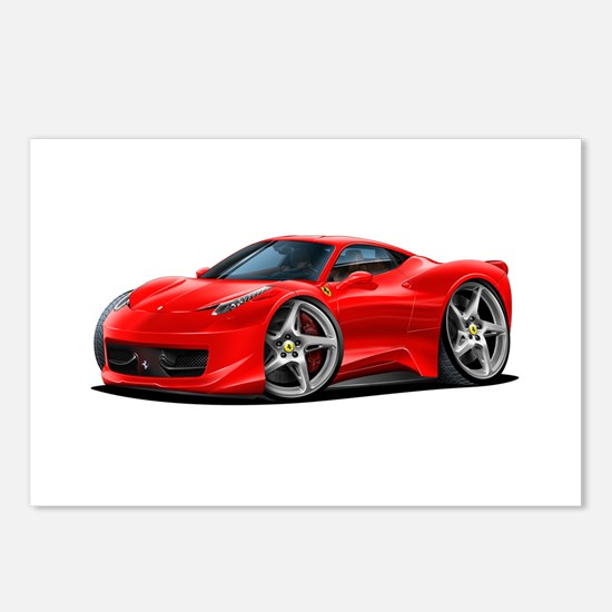 458 Italia Red Car Postcards (Package of 8)