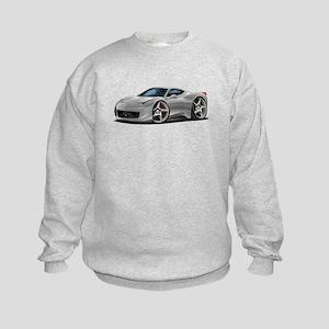 458 Italia Silver Car Kids Sweatshirt