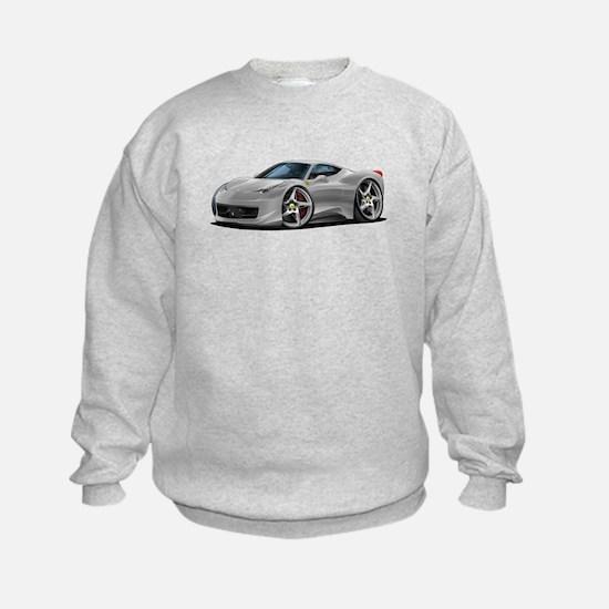 458 Italia Silver Car Sweatshirt