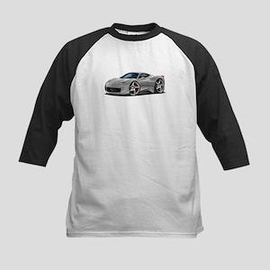 458 Italia Silver Car Kids Baseball Jersey