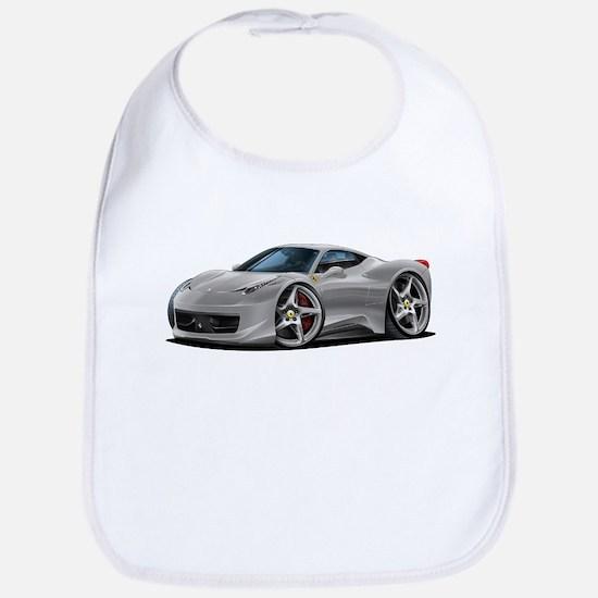 458 Italia Silver Car Bib