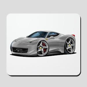 458 Italia Silver Car Mousepad
