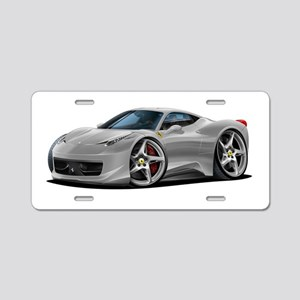 458 Italia Silver Car Aluminum License Plate