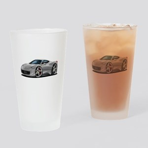 458 Italia Silver Car Drinking Glass