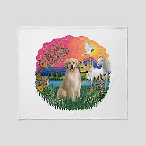 FantasyLand-Golden#8 Throw Blanket