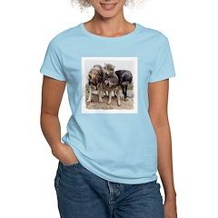 Rallying Wolves Women's Pink T-Shirt