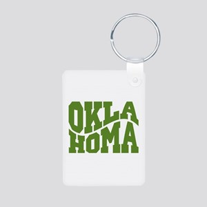 Oklahoma Aluminum Photo Keychain