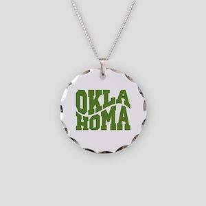Oklahoma Necklace Circle Charm