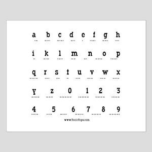 Morse Code Alphabet Small Poster