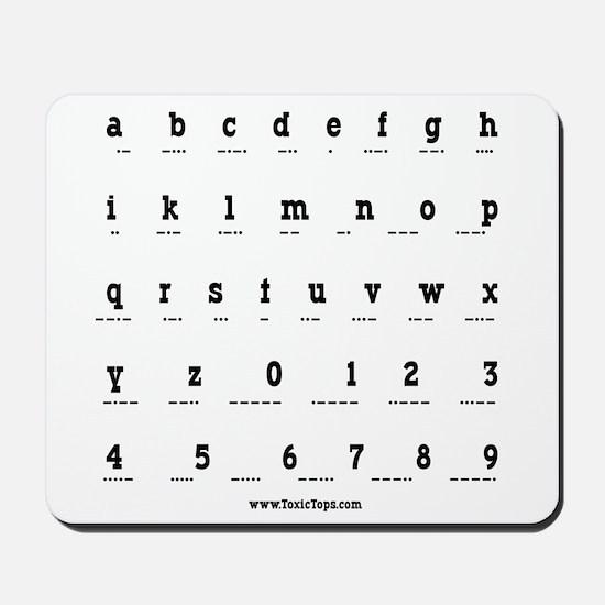 Morse Code Alphabet Mousepad