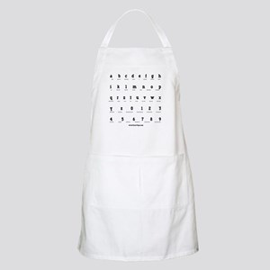 Morse Code Alphabet BBQ Apron
