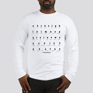 Morse Code Alphabet Long Sleeve T-Shirt