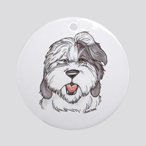 OE Sheepdog Ornament (Round)