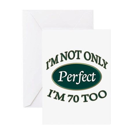 Perfect Green 70 Greeting Cards