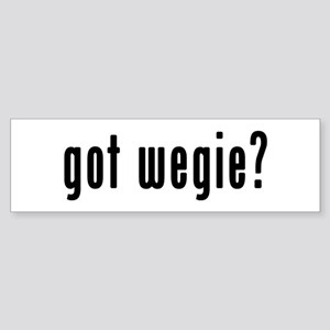 GOT WEGIE Sticker (Bumper)
