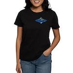 World Map Curved Rhombus: Women's 2 Dark T-Shirt