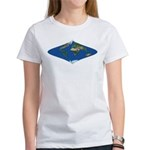 World Map Curved Rhombus: Women's T-Shirt