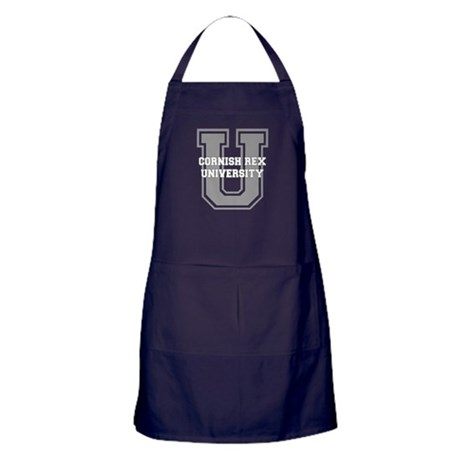 Cornish Rex UNIVERSITY Apron (dark)