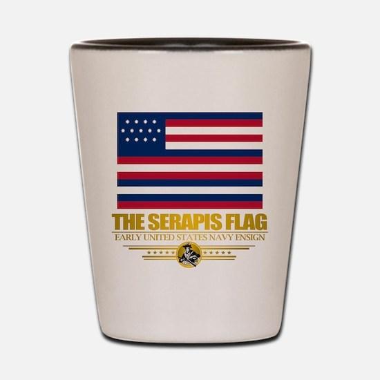 """""""Serapis Flag"""" Shot Glass"""