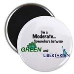 "I'm A Moderate 2.25"" Magnet (100 pack)"