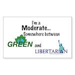 I'm A Moderate Rectangle Sticker