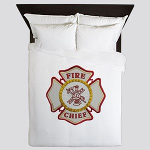 Fire Chief Maltese Queen Duvet