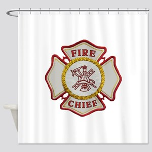 Fire Chief Maltese Shower Curtain