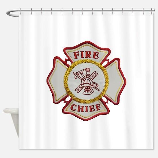 Fire Chief Maltese Shower Curtain