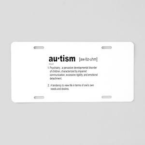 Definition Of Autism Aluminum License Plate