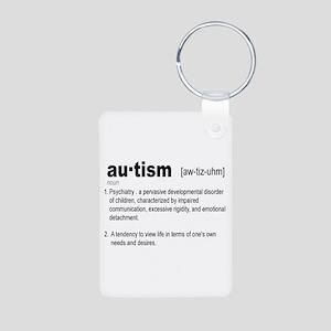 Definition Of Autism Aluminum Photo Keychain