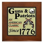 """Guns & Patriots"" Framed Tile"