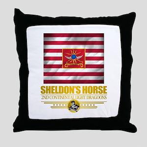 """Sheldon Horse"" Throw Pillow"