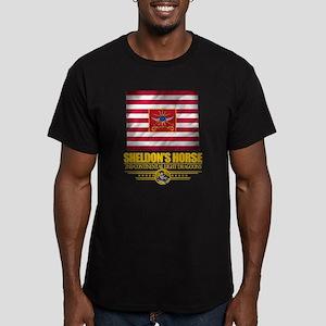 """""""Sheldon Horse"""" Men's Fitted T-Shirt (dark)"""