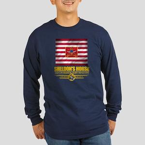 """Sheldon Horse"" Long Sleeve Dark T-Shirt"