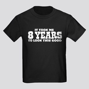 Funny Eight Year Old Kids Dark T-Shirt