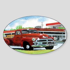 1954 Chevrolet Truck Sticker (Oval)
