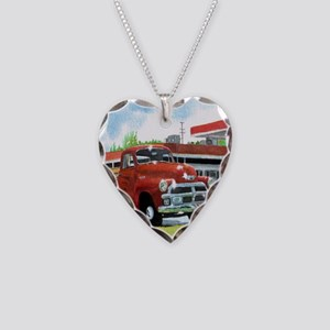 1954 Chevrolet Truck Necklace Heart Charm