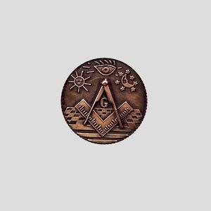 Bronze Freemasonry Mini Button
