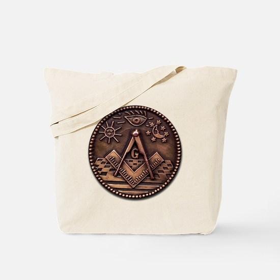 Bronze Freemasonry Tote Bag