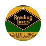 Reading Bee Lines Ornament (Round)