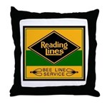Reading Bee Lines Throw Pillow